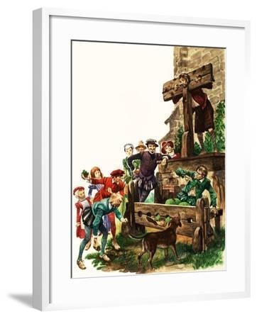 Punishment in Tudor Times-Peter Jackson-Framed Giclee Print