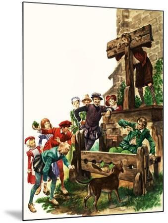 Punishment in Tudor Times-Peter Jackson-Mounted Giclee Print