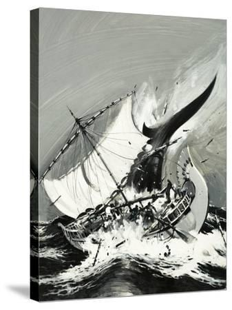 Stories of the Sea: The First Mariners-Graham Coton-Stretched Canvas Print