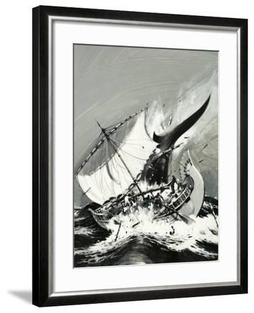 Stories of the Sea: The First Mariners-Graham Coton-Framed Giclee Print