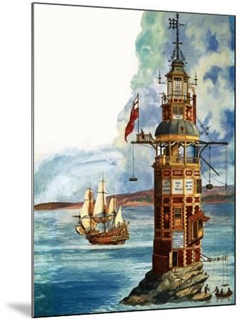 The First Eddystone Lighthouse-Peter Jackson-Mounted Giclee Print