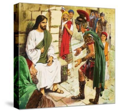 Men Who Came to Jesus: The Roman Soldier-Clive Uptton-Stretched Canvas Print