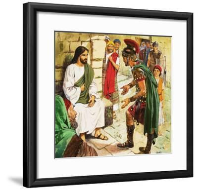Men Who Came to Jesus: The Roman Soldier-Clive Uptton-Framed Giclee Print