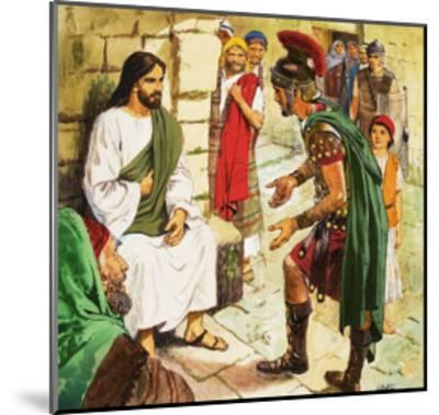 Men Who Came to Jesus: The Roman Soldier-Clive Uptton-Mounted Giclee Print