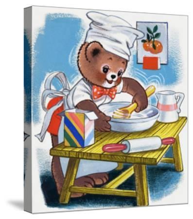Teddy Bear--Stretched Canvas Print