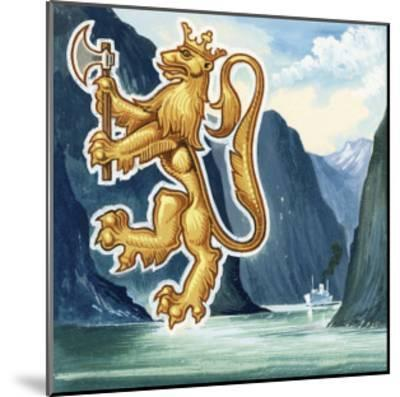 The Emblem of Norway--Mounted Giclee Print