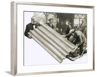 So That's Why, We Have Corrugated Iron-John Millar Watt-Framed Giclee Print