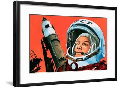 Unidentified Russian Cosmonaut--Framed Giclee Print