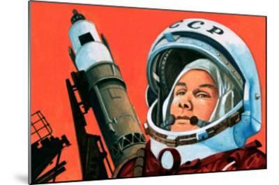 Unidentified Russian Cosmonaut--Mounted Giclee Print