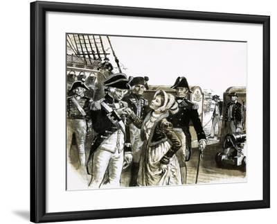 The Georgians: The Tragic Lovers. Nelson and Lady Hamilton-C.l. Doughty-Framed Giclee Print