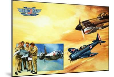 Planes of the Confederate Air Force-Gerry Wood-Mounted Giclee Print