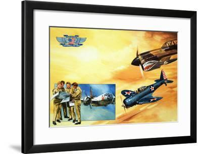 Planes of the Confederate Air Force-Gerry Wood-Framed Giclee Print