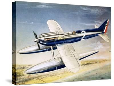 The Supermarine S6 Seaplane-John Henry Batchelor-Stretched Canvas Print