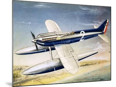 The Supermarine S6 Seaplane-John Henry Batchelor-Mounted Giclee Print