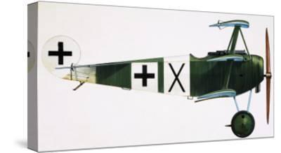 Unidentified Triplane-English School-Stretched Canvas Print