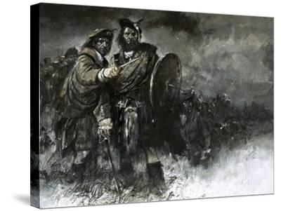 The Cause of Bonnie Prince Charlie and His Courageous Highlanders Was Doomed from the Start-Neville Dear-Stretched Canvas Print