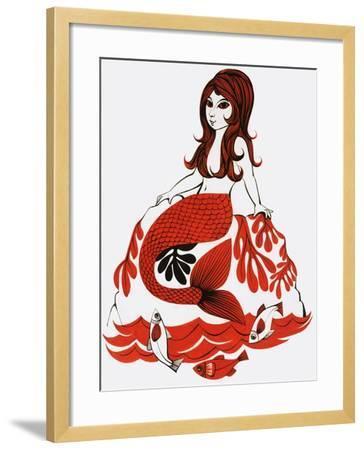 Mermaid--Framed Giclee Print
