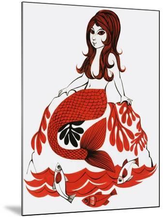 Mermaid--Mounted Giclee Print