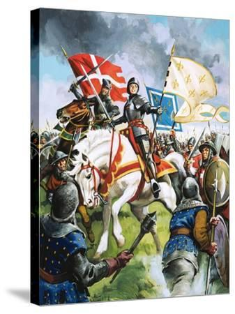 Joan of Arc Marches Against the English-G. Hireth-Stretched Canvas Print