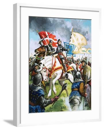 Joan of Arc Marches Against the English-G. Hireth-Framed Giclee Print
