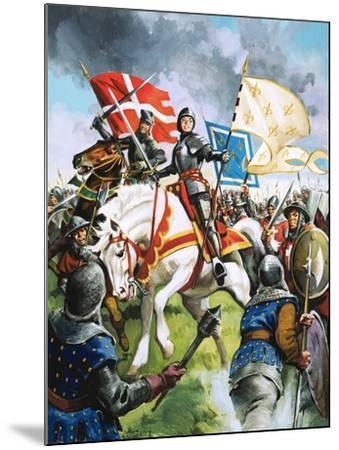 Joan of Arc Marches Against the English-G. Hireth-Mounted Giclee Print