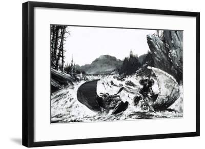 Alexander Mackenzie Begins His Quest to Find a Route Across Canada with a Hair-Raising River Ride-Graham Coton-Framed Giclee Print