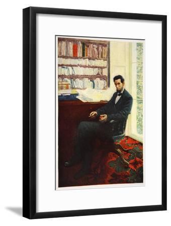Portrait of Abraham Lincoln-Howard Pyle-Framed Giclee Print
