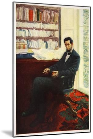 Portrait of Abraham Lincoln-Howard Pyle-Mounted Giclee Print