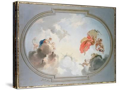 Ceiling Design Depicting the Apotheosis of Flora-Jacob De Wit-Stretched Canvas Print