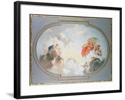 Ceiling Design Depicting the Apotheosis of Flora-Jacob De Wit-Framed Giclee Print