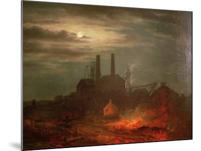 Old Hetton Colliery, Newcastle--Mounted Giclee Print