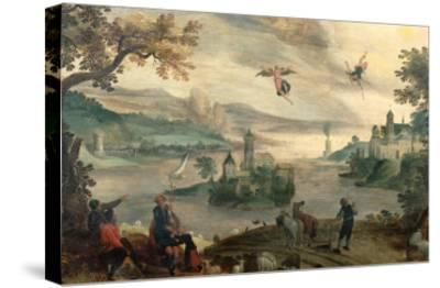 The Fall of Icarus-Jacob Grimmer-Stretched Canvas Print