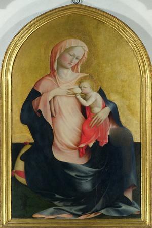 Madonna of Humility, c.1410-Tommaso Masolino Da Panicale-Stretched Canvas Print