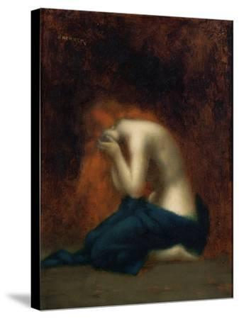 Solitude-Jean-Jacques Henner-Stretched Canvas Print