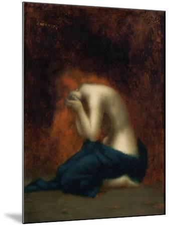 Solitude-Jean-Jacques Henner-Mounted Giclee Print