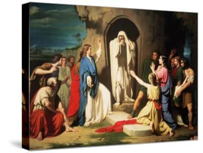 The Resurrection of Lazarus-Jose Casado Del Alisal-Stretched Canvas Print