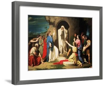 The Resurrection of Lazarus-Jose Casado Del Alisal-Framed Giclee Print