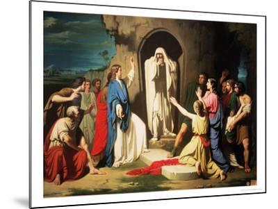 The Resurrection of Lazarus-Jose Casado Del Alisal-Mounted Giclee Print