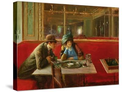 At the Cafe-Jean B?raud-Stretched Canvas Print