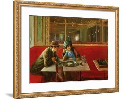 At the Cafe-Jean B?raud-Framed Giclee Print