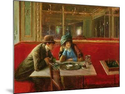 At the Cafe-Jean B?raud-Mounted Giclee Print