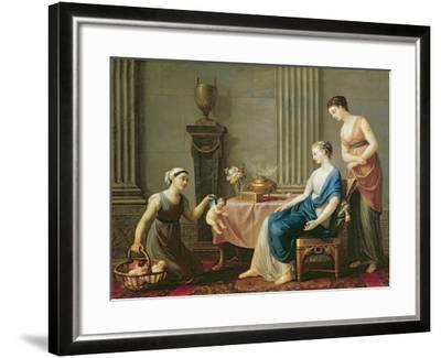 The Seller of Loves, 1763-Joseph-marie, The Elder Vien-Framed Giclee Print