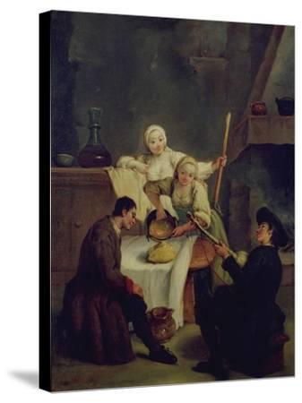Preparing the Polenta-Pietro Longhi-Stretched Canvas Print