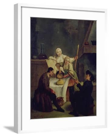 Preparing the Polenta-Pietro Longhi-Framed Giclee Print