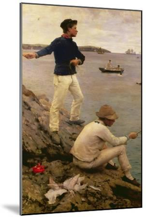 Fisher Boys, Falmouth, 1885-Henry Scott Tuke-Mounted Giclee Print