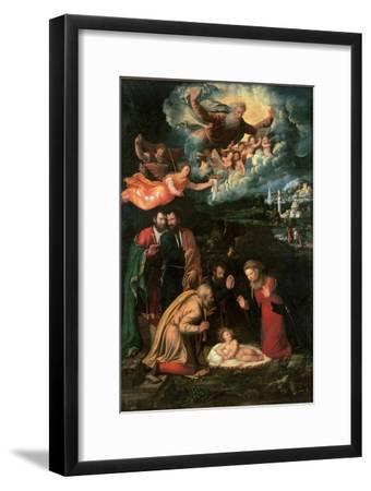 Nativity with God the Father-Battista Dossi-Framed Giclee Print