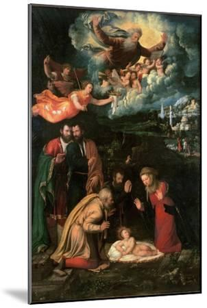 Nativity with God the Father-Battista Dossi-Mounted Giclee Print