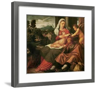 Rest on the Flight Into Egypt-Bonifacio Veronese-Framed Giclee Print
