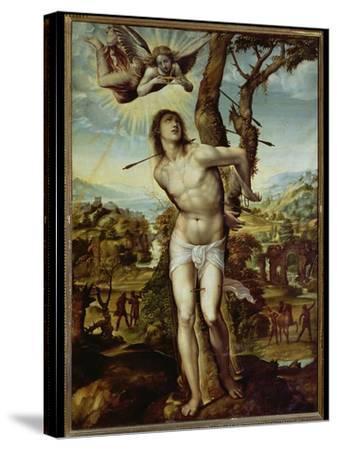 St. Sebastian-Giovanni Antonio Bazzi Sodoma-Stretched Canvas Print