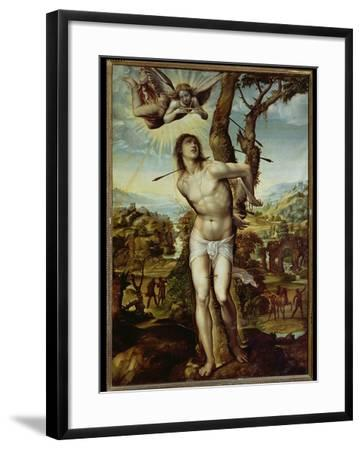St. Sebastian-Giovanni Antonio Bazzi Sodoma-Framed Giclee Print